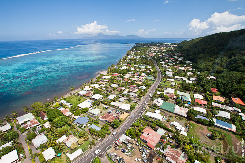 Главная дорога острова Таити / Фото из Французской Полинезии