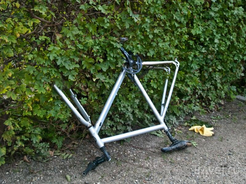 Разобранный велосипед / Фото из Дании