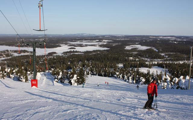 Склоны горнолыжного курорта Рука, Финляндия / Фото из Финляндии