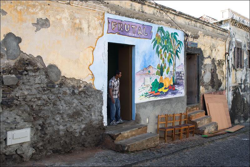 Фруктовый магазин в Сан-Филипи, Кабо-Верде  / Фото из Кабо-Верде