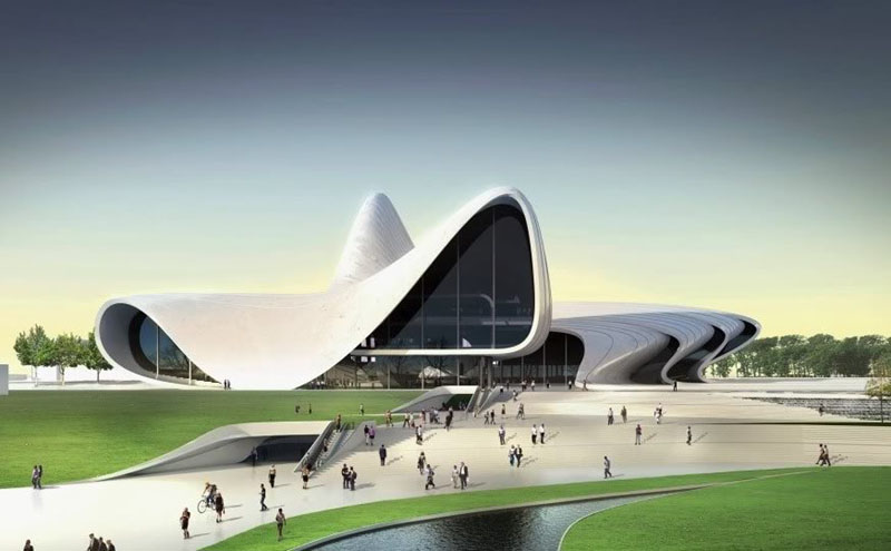 Проект Культурного центра Гейдара Алиева в Баку / Фото из Азербайджана