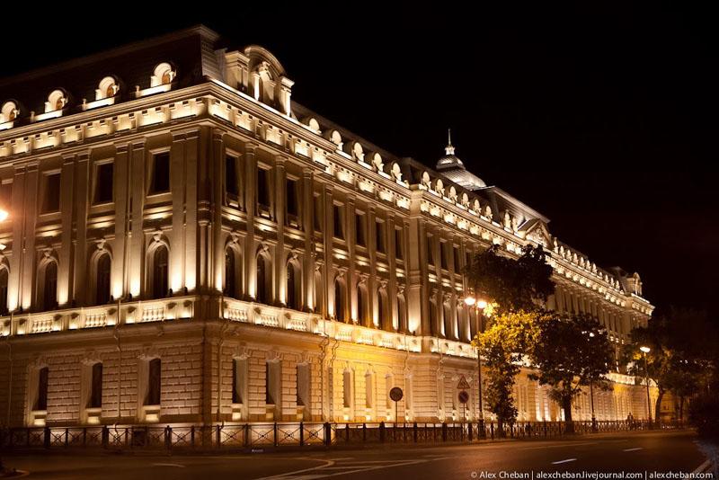 Ночная подсветка в Баку / Фото из Азербайджана