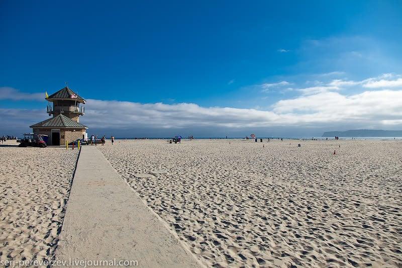 На пляже в Коронадо, Калифорния / Фото из США