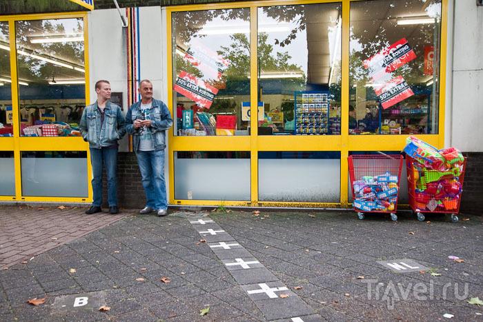 Магазин на границе между Бельгией и Нидерландами / Фото из Бельгии