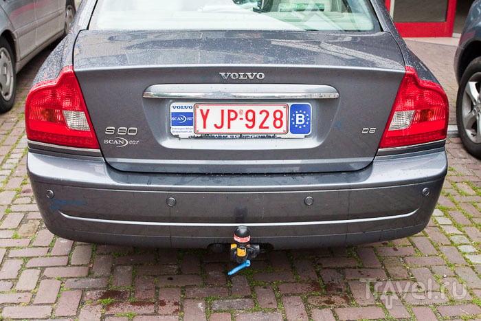 Бельгийский автомобильный номер / Фото из Бельгии