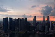 Вид на деловой центр / Сингапур