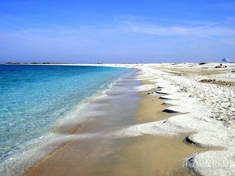 Дюны на рисовом пляже Is Arutas, Сардиния / Италия