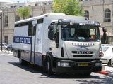 Автозак, вид спереди / Израиль