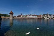 Старый мост Капелльбрюкке / Швейцария