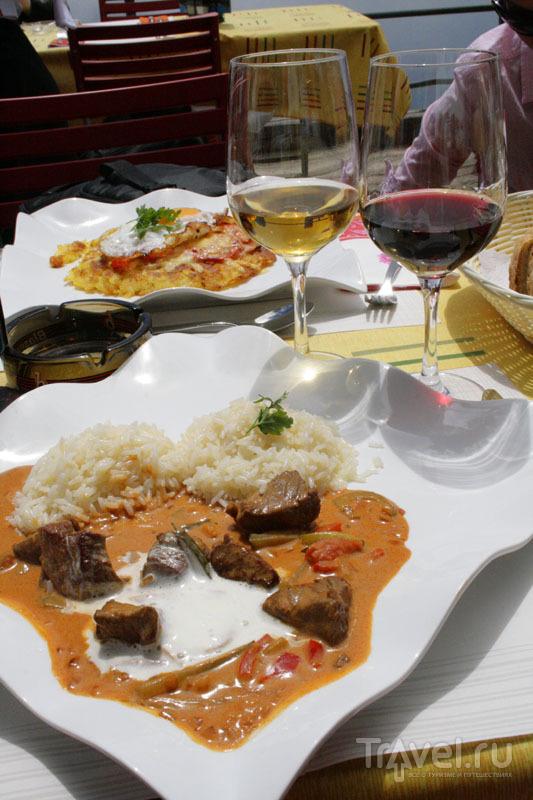 Блюда в высокогорном ресторане в Швейцарии / Фото из Швейцарии
