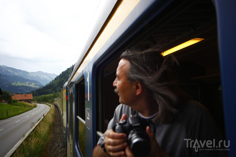 Панорамный поезд «Золотой перевал» / Фото из Швейцарии