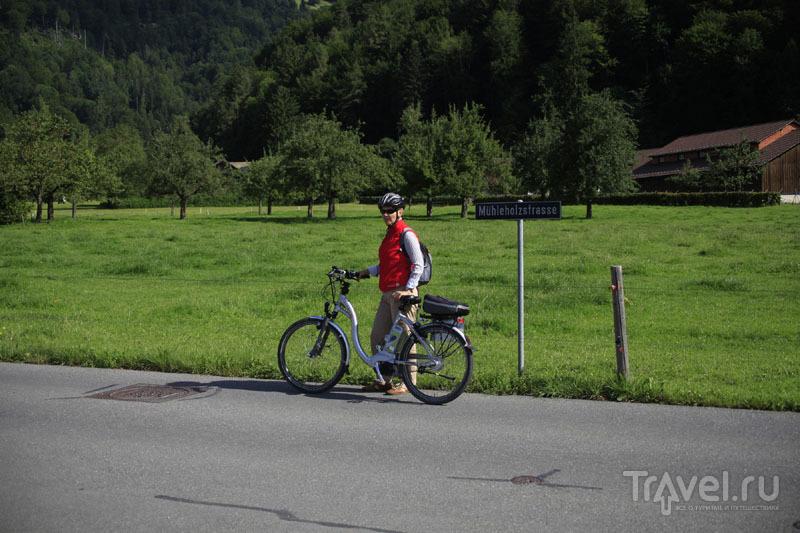 Катание на велосипеде в Швейцарии / Фото из Швейцарии