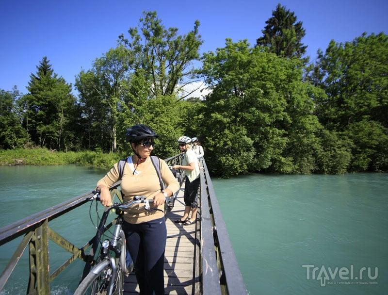 Мост через реку Ааре в Швейцарии / Фото из Швейцарии