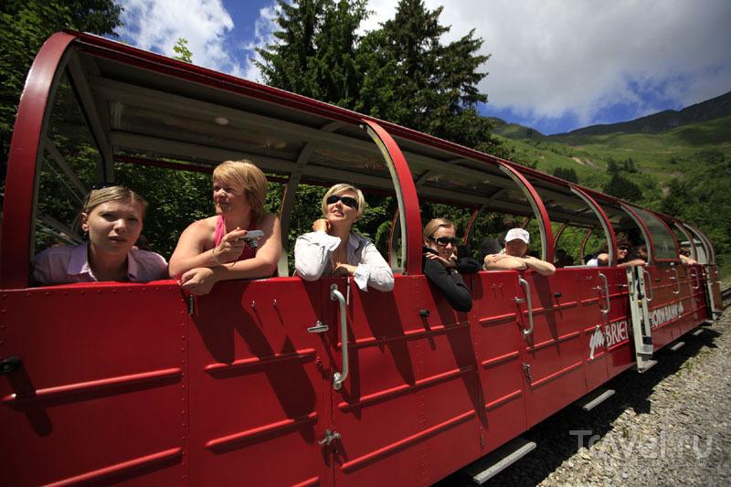 Зубчатая железная дорога в Швейцарии / Фото из Швейцарии