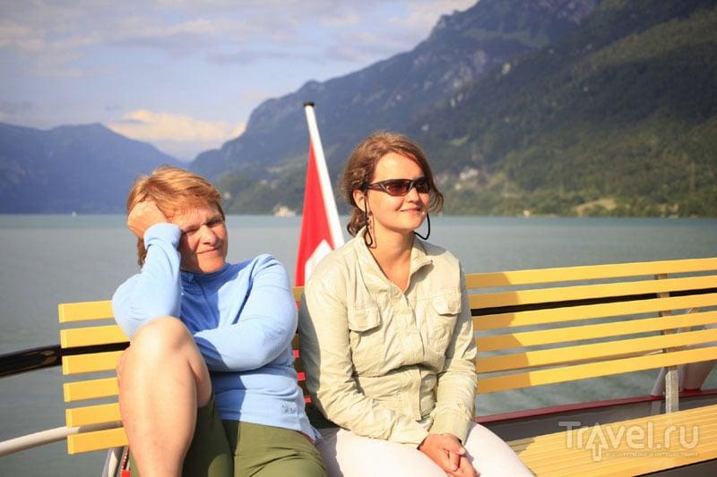 Туристы на теплоходе в Швейцарии / Фото из Швейцарии