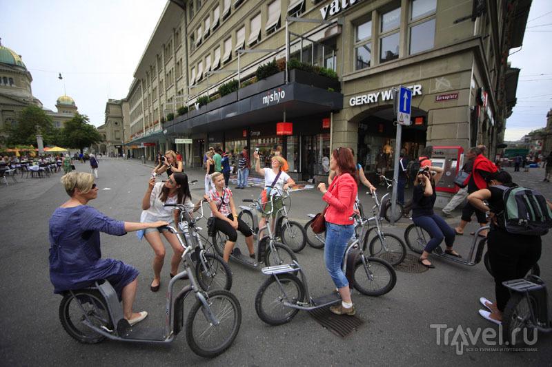 Прогулка на скутерах в Швейцарии / Фото из Швейцарии