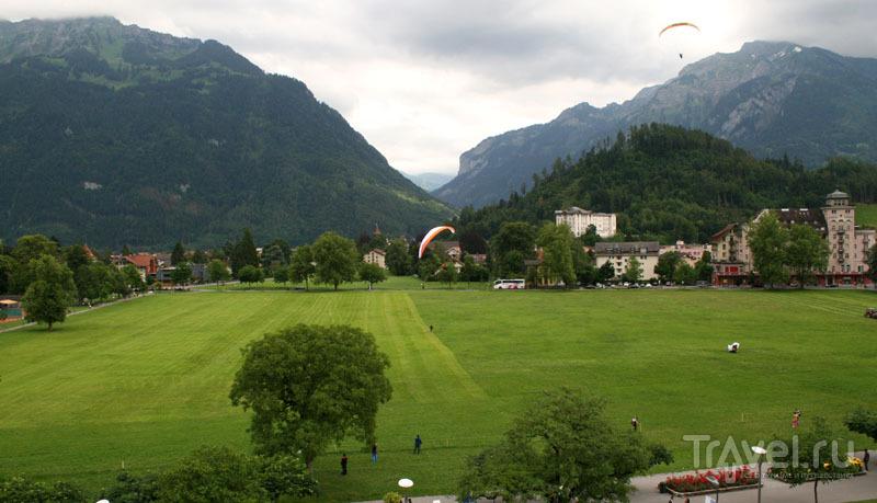В городе Интерлакен, Швейцария / Фото из Швейцарии