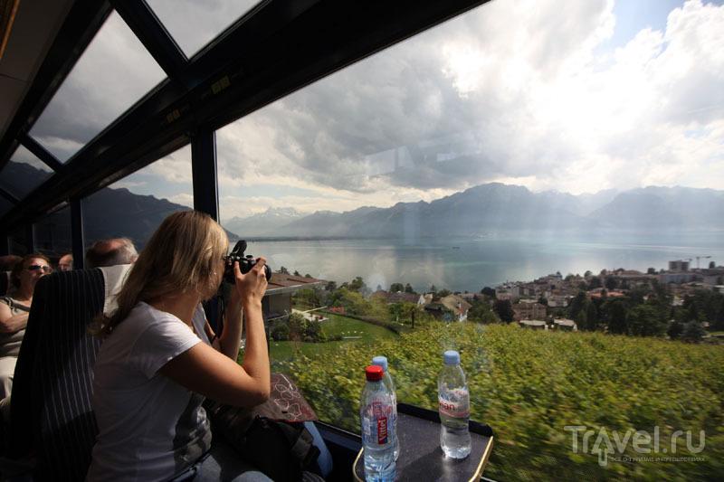 В панорамном поезде «Золотой перевал» / Фото из Швейцарии