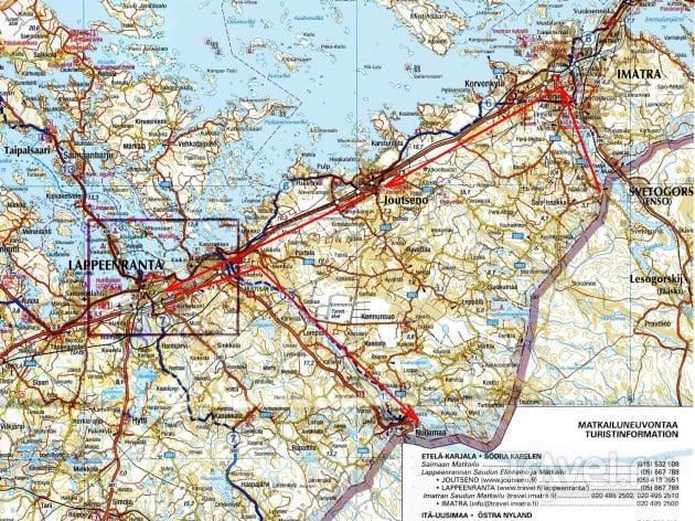 Маршрут на карте / Финляндия