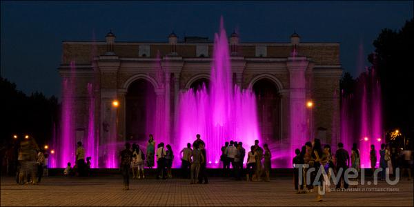 Подсветка фонтана / Узбекистан