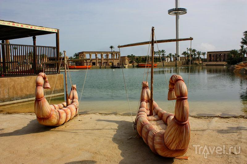 Египетские лодки в парке Terra Mítica, Испания / Фото из Испании