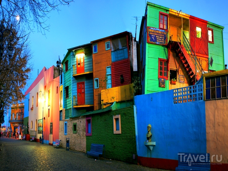 Живописный район La Boca в Буэнос-Айресе / Аргентина