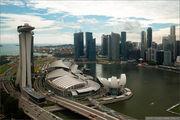 Вид на залив / Сингапур