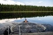 Купание после сауны / Финляндия