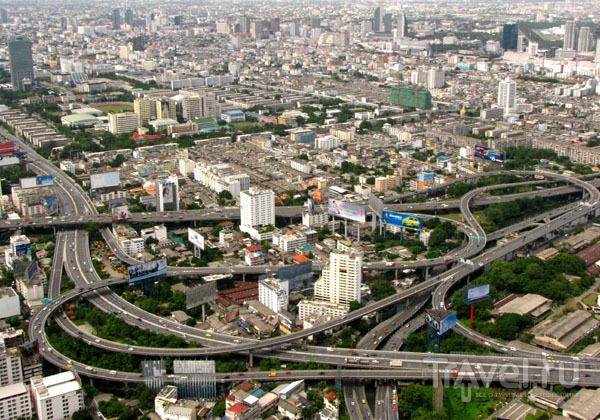 Вид на небоскребы Бангкока со смотровой площадки Байок-Скай, Таиланд / Фото из Таиланда