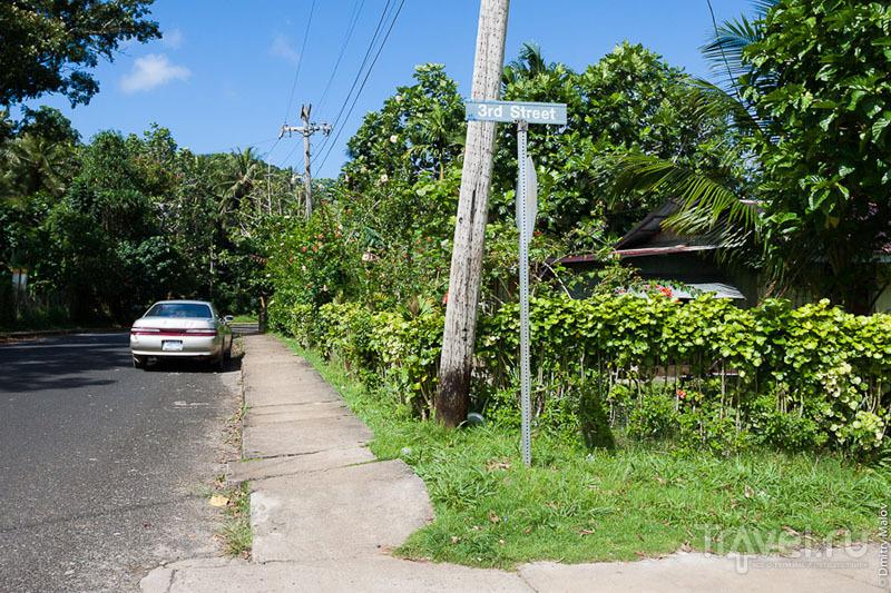 Улица в городе Колониа, Микронезия / Фото из Микронезии