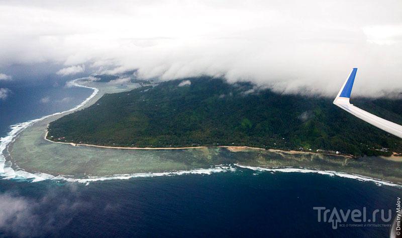 Вид на остров Косрае с самолета, Микронезия / Фото из Микронезии