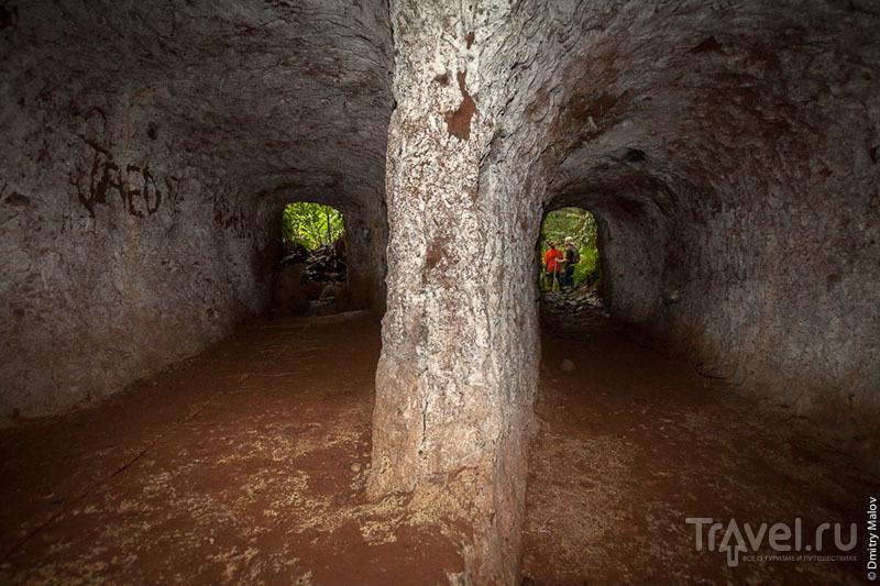 В туннеле на острове Косрае, Микронезия / Фото из Микронезии