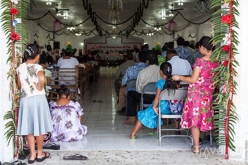В церкви на острове Косрае, Микронезия / Фото из Микронезии