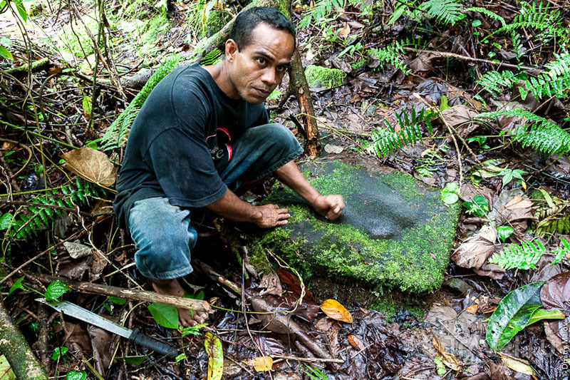 Ступа для изготовления сакау на острове Косрае, Микронезия / Фото из Микронезии