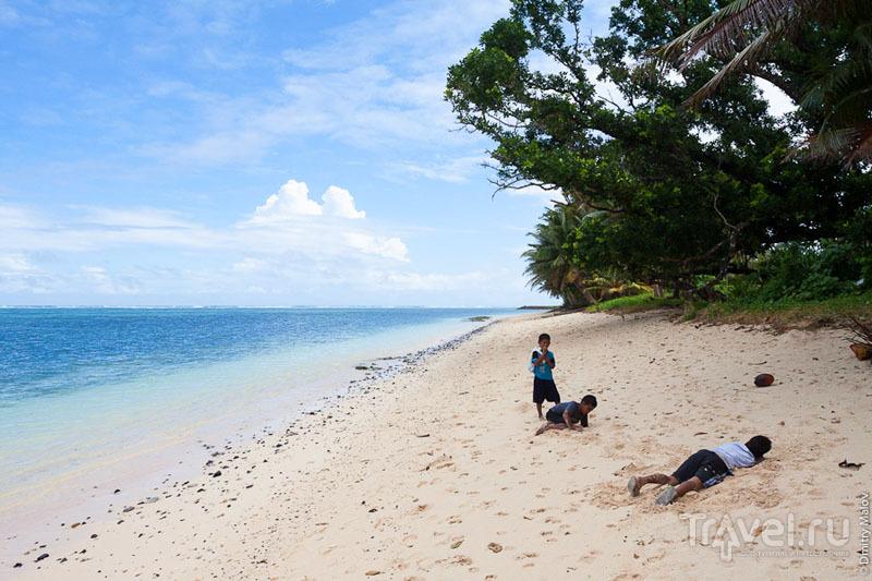 Пляж на острове Косрае, Микронезия / Фото из Микронезии