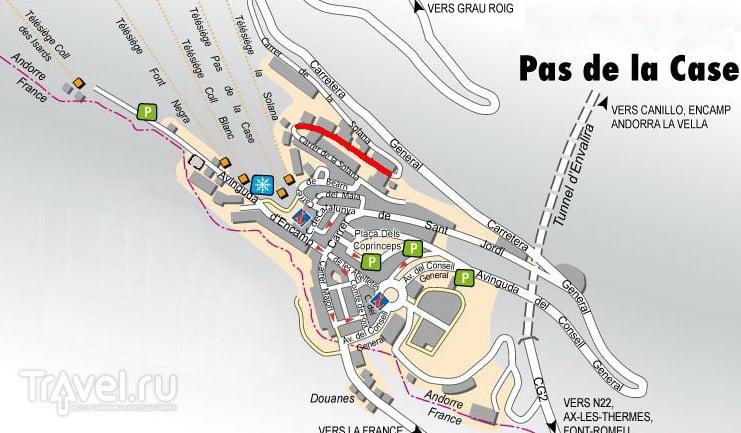 Карта курорта / Андорра