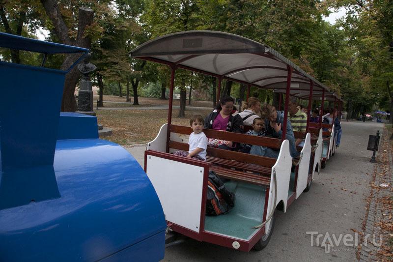 Паровоз в парке Калемегдан в Белграде, Сербия / Фото из Черногории