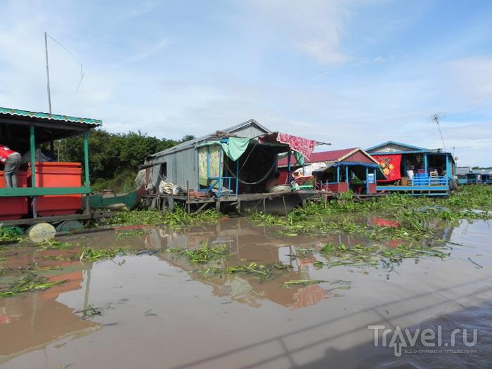 Деревня на берегу / Камбоджа
