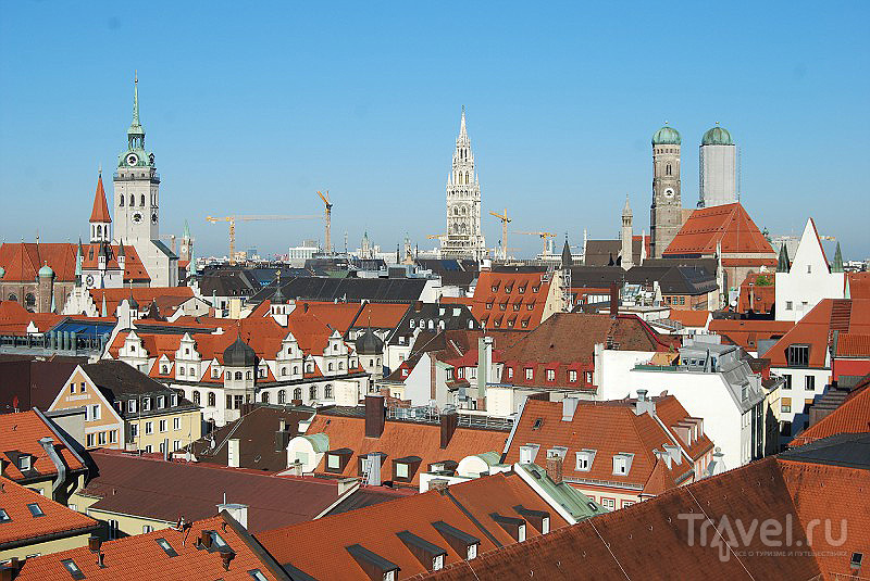 Вид на центр Мюнхена, Германия / Фото из Германии