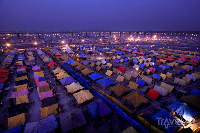 Палаточные лагерь паломников / Индия