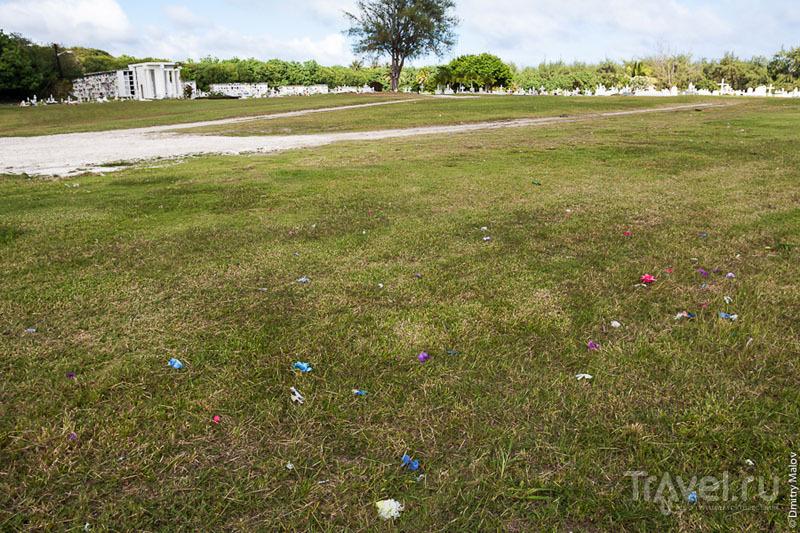 Искусственные цветы с кладбища / Фото с Гуама