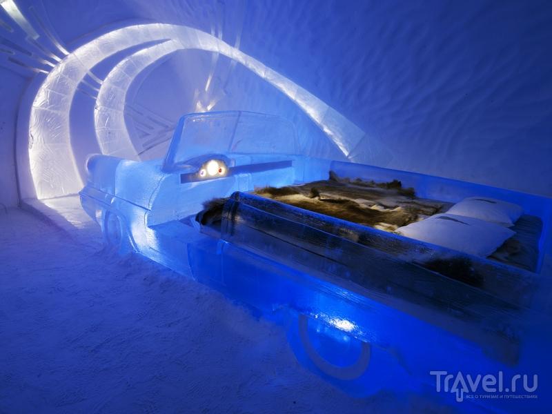 Номер в ледяном отеле Icehotel в Швеции / Швеция