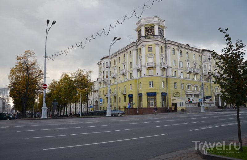 Широкая и пустая улица в Минске / Фото из Белоруссии