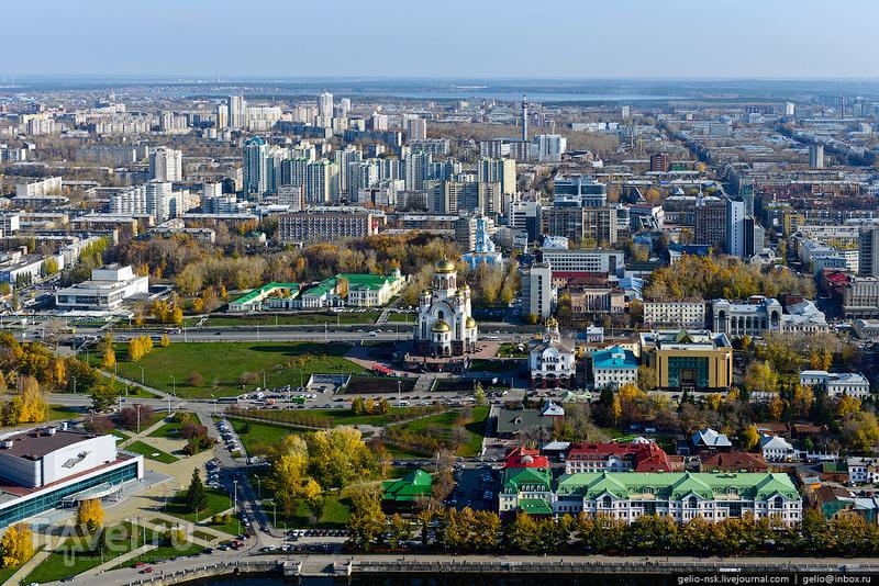 Екатеринбург с вертолета / Россия
