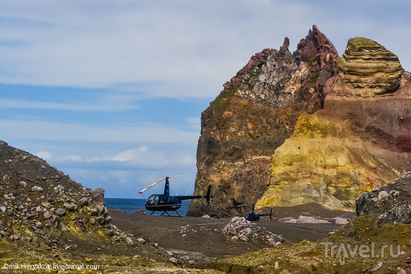 Новая Зеландия: остров Белый / Фото из Новой Зеландии