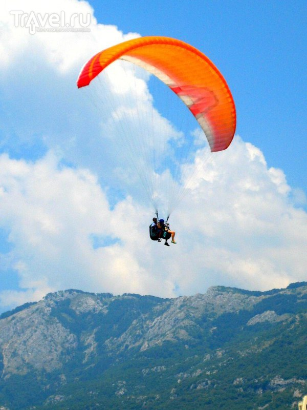 Полет над Черногорией на параплане / Черногория