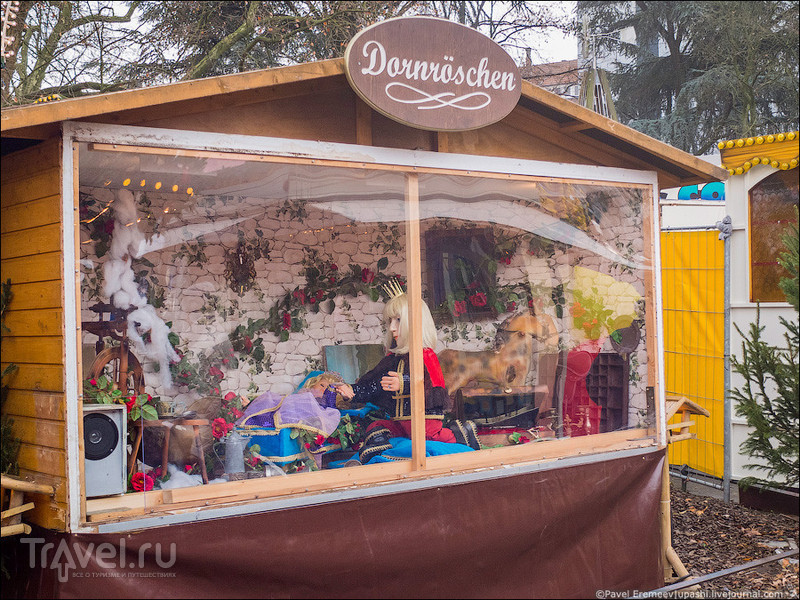 Рождественский рынок в немецком городке Хаген / Германия