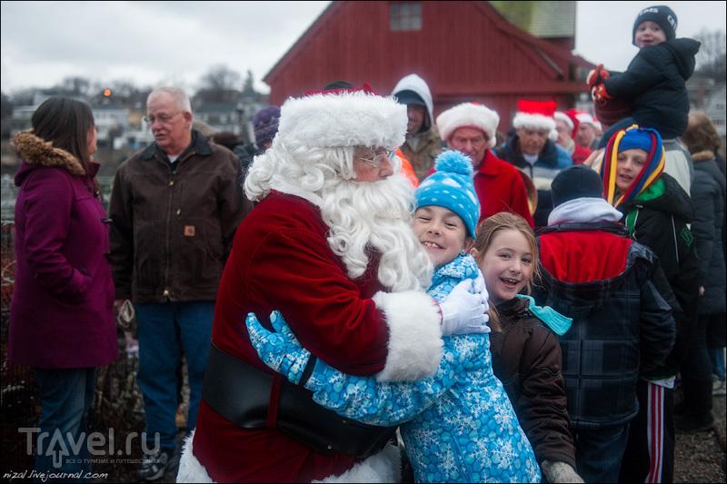 Приезд Санта-Клауса в Рокпорт / США