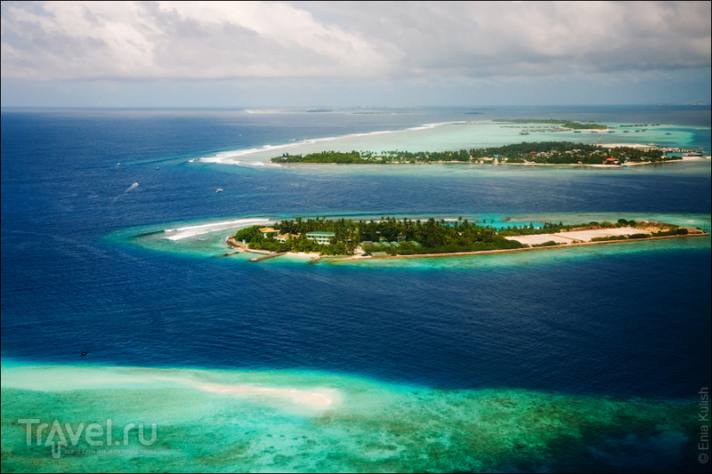 Мальдивы - взгляд с неба / Фото с Мальдив