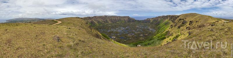 Вулкан Rano Kau на острове Пасхи / Фото из Чили